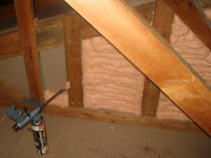Air sealing using spray foam
